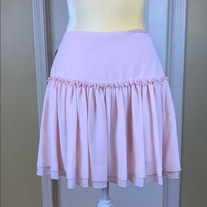 Banana Republic Short Pink Ruffle Skirt Size 8